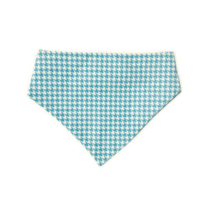 Uptown Pups Reversible Bandana – Baby Blue Houndstooth - Uptown Pups
