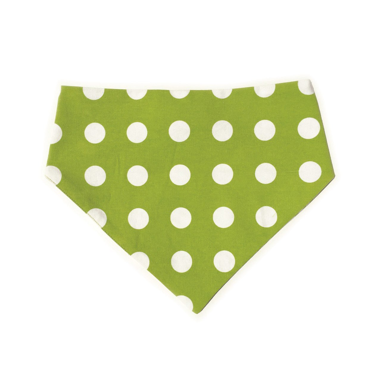 Uptown Pups Reversible Bandana - Lime Green Chevron - Uptown Pups