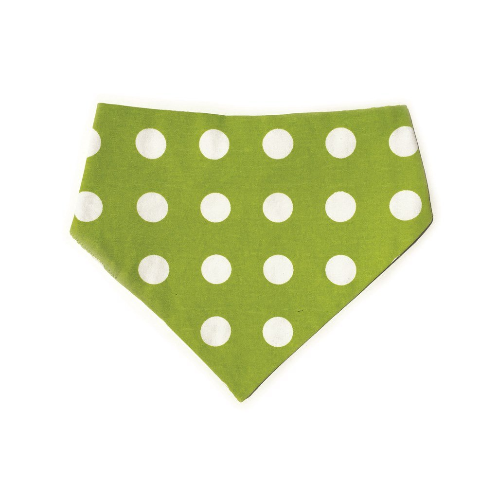 Uptown Pups Reversible Bandana - Lime Green Houndstooth - Uptown Pups