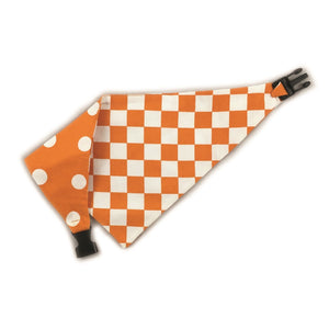 Uptown Pups Reversible Bandana - Orange - Uptown Pups