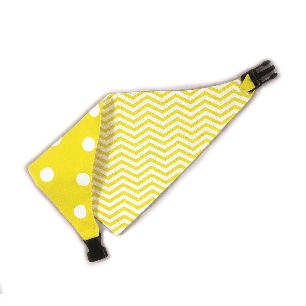 Uptown Pups Reversible Bandana - Yellow - Uptown Pups
