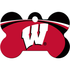 Wisconsin Badgers NCAA Pet ID Tag - Large Bone