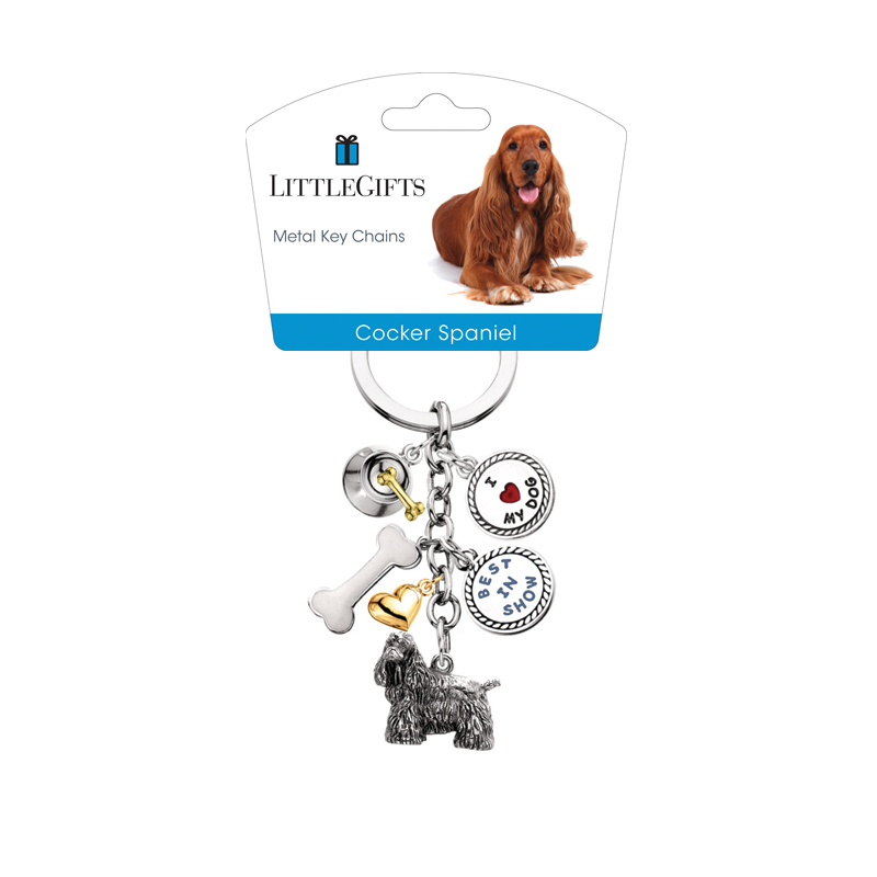 Little Gifts Metal Dog Keychain