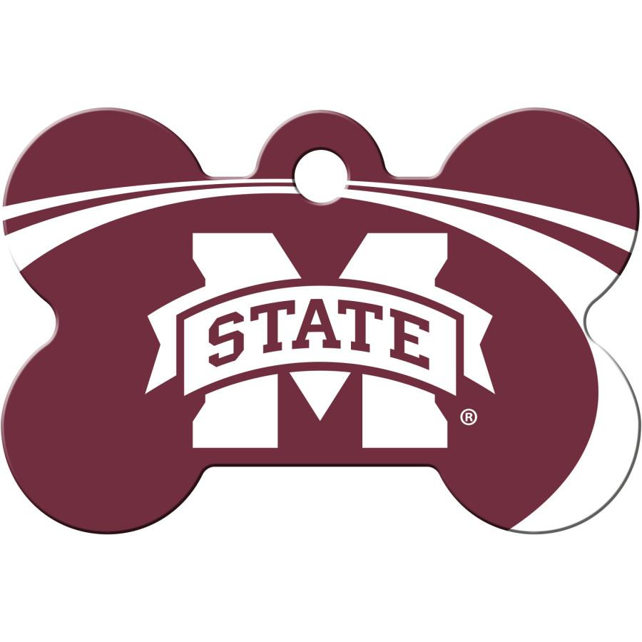 Mississippi State Bulldogs  NCAA Pet ID Tag - Large Bone