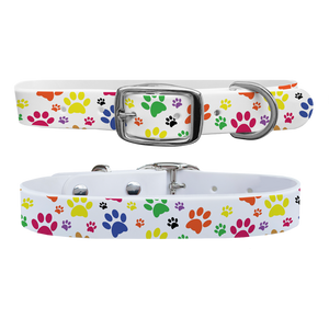 C4 Pawprints Dog Collar