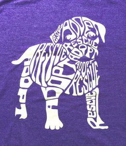 Dog N Frog Rescue Dog Heather Purple T-Shirt - Uptown Pups