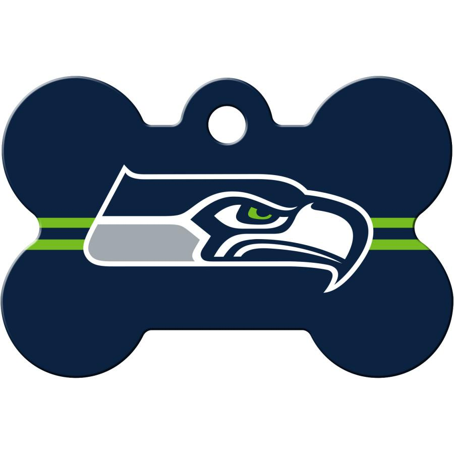 Seattle Seahawks NFL Pet ID Tag - Large Bone