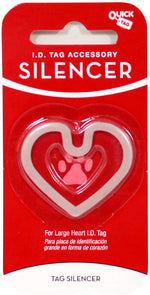 Load image into Gallery viewer, Quick-Tag Large Heart Glow-in-the-Dark Silencer