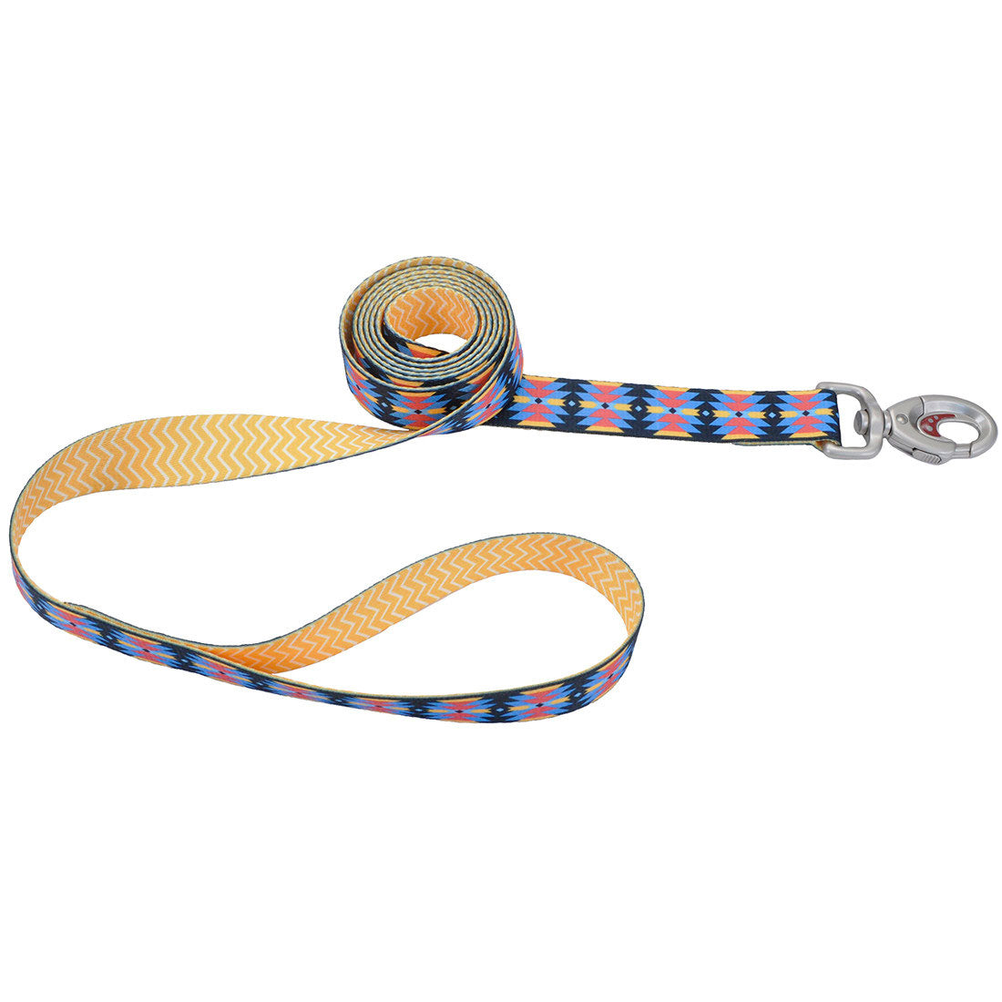 Sublime Yellow Chevron Aztec Leash