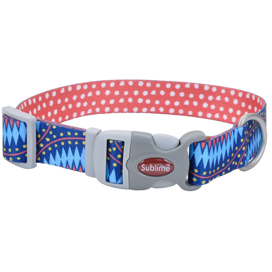 Sublime Blue Diamond Dots Adjustable Collar - Uptown Pups