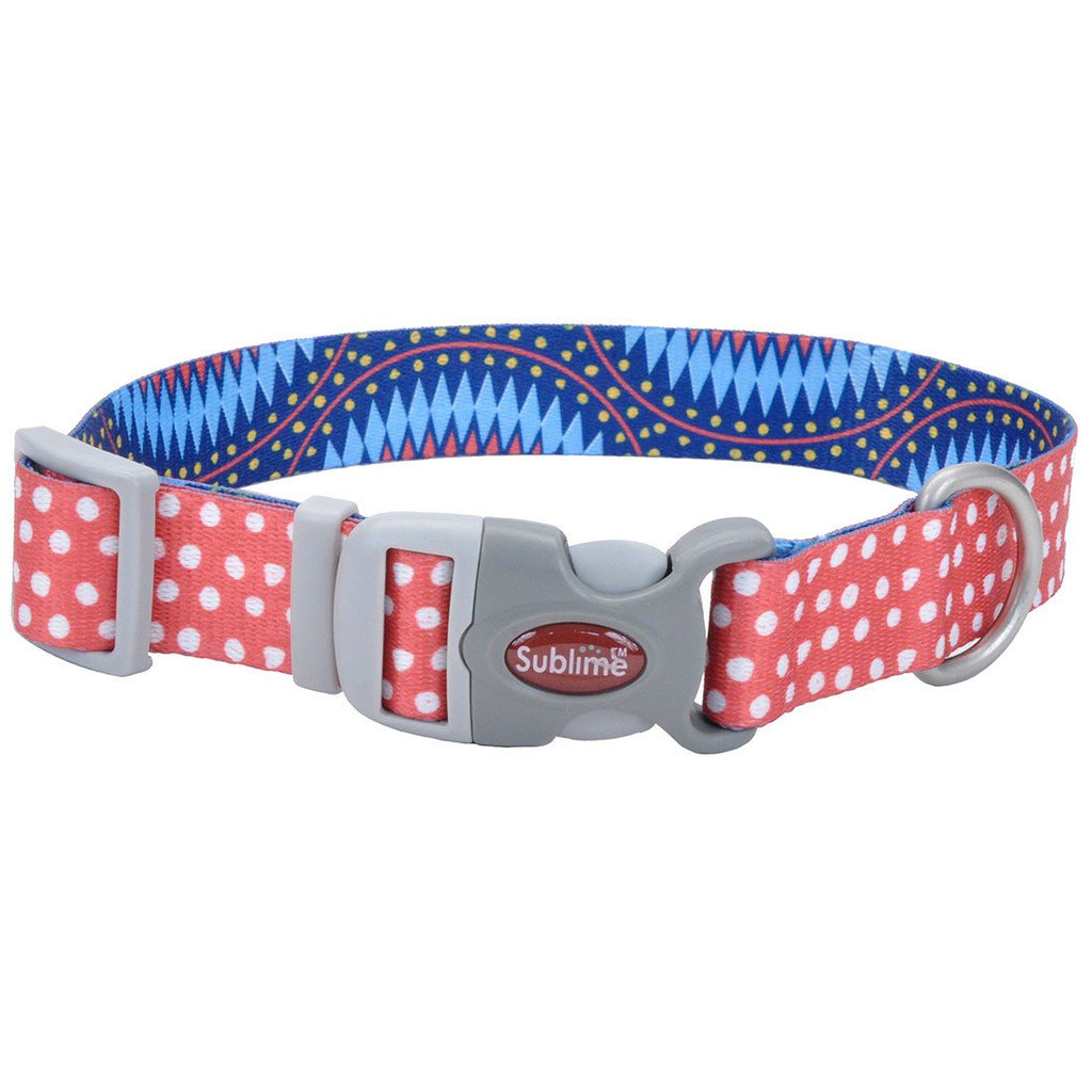 Sublime Dots Blue Diamond Adjustable Collar - Uptown Pups