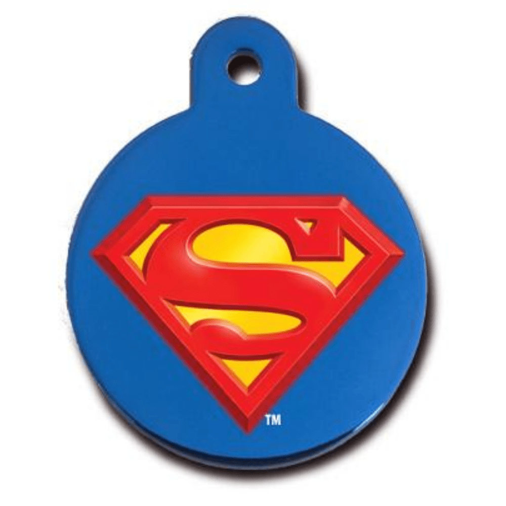 Superman Pet ID Tag Large Circle - Uptown Pups