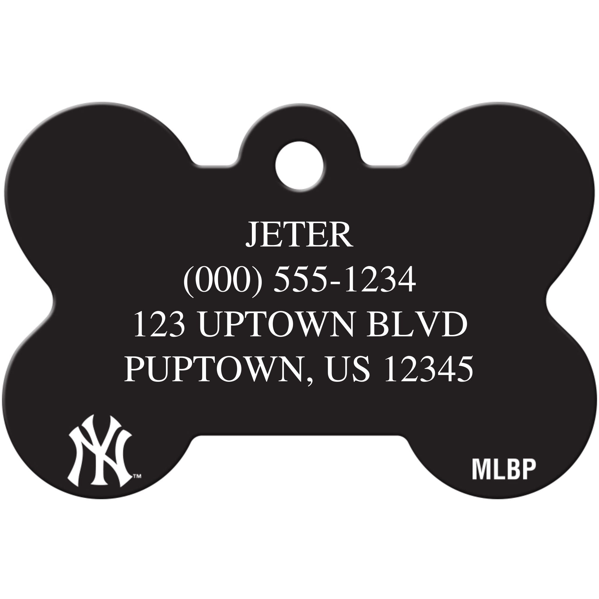 New York Yankees MLB Pet ID Tag - Large Bone