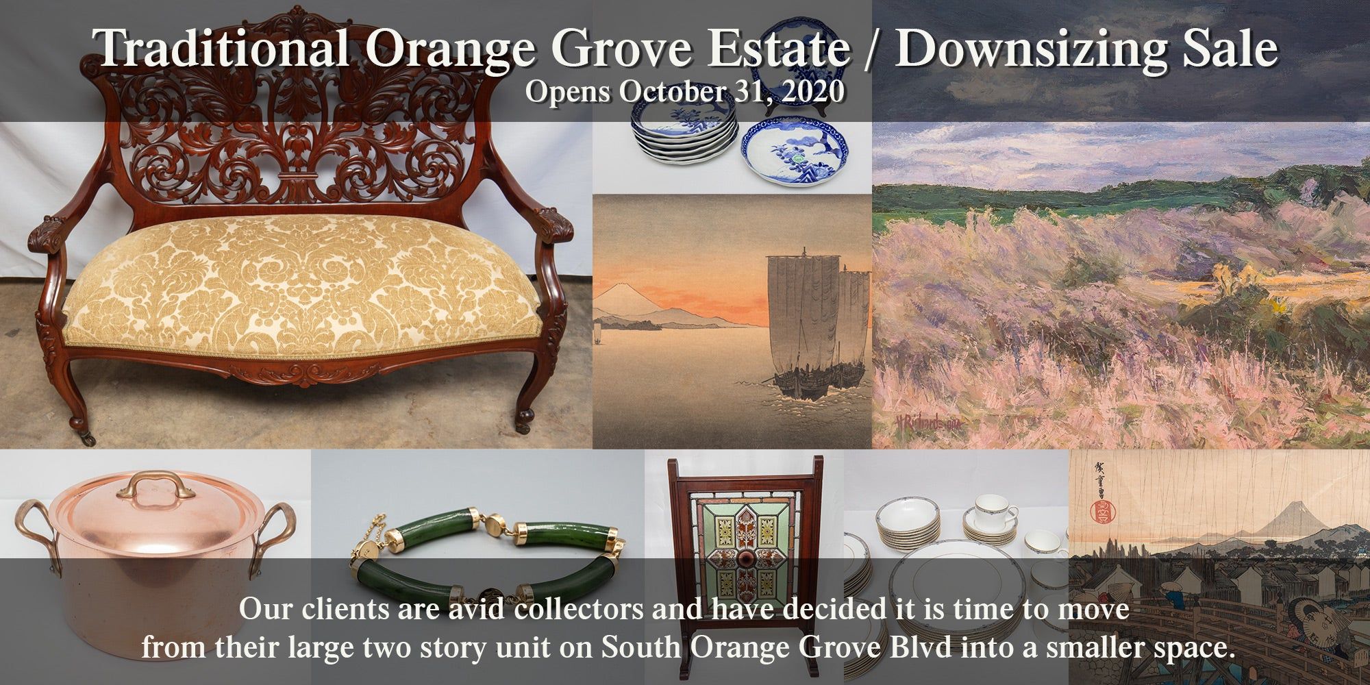 Traditional South Orange Grove Virtual Estate Sale – October 2020