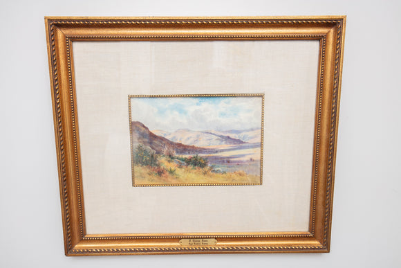 J Clinton Jones of Royal Cambrian Academy California Landscape Watercolor