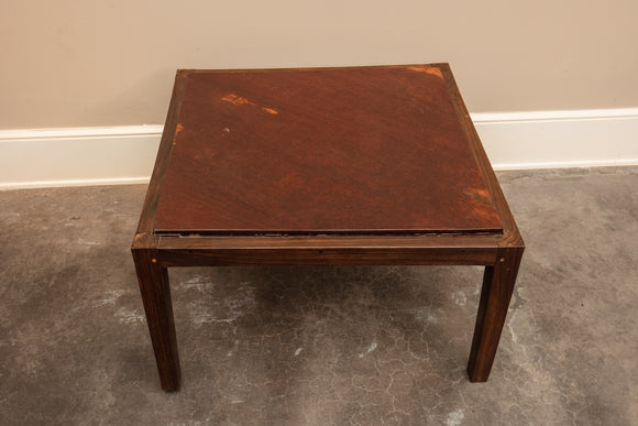 Contemporary Ironwood Wood Square Coffee Table