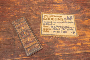 Tooled Leather Bookmark and Gobilins Patch
