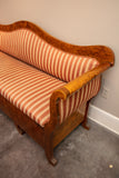 Antique Swedish Flame Burch Neoclassical Bench/Sofa Bed for Children Circa Early 19th Century