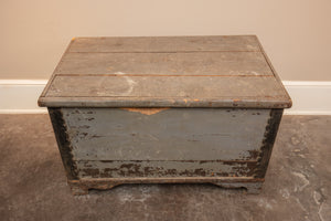 Antique Blue Danish Pine Trunk