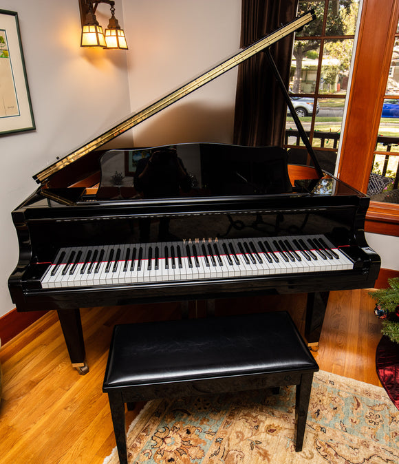 Yamaha GA1 Baby Grand Piano 5' – Black Polished Ebony