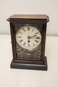 Antique One Day Time Mantle Clock with Key