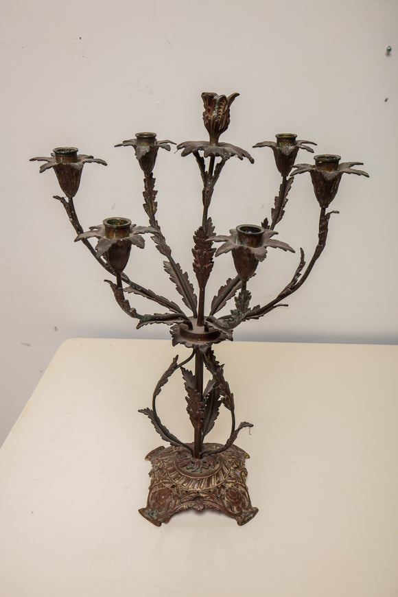 French Style Graduated Metal Candelabra