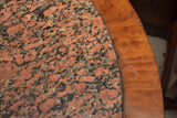 Antique American Empire Stone Top Entry Table