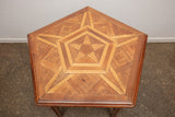 Vintage Mid Century Parquetry Inlay Table