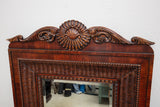 Ralph Lauren Rattan Wood Framed Mirror