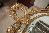 Vintage Gold Colored Carved Mirror