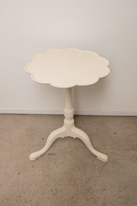 Vintage White Painted Flip Top Table