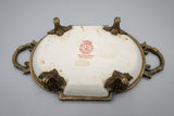 Ormolu-Mounted Chinese Porcelain Soap Dish with Chickens