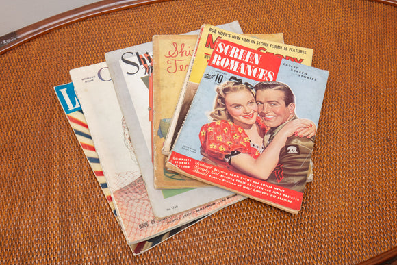 Collection of 7 Vintage Movie Magazines