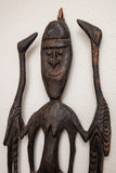African Tribal Carving of a Man and Birds