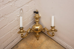 Brass Two Light Wall Sconce