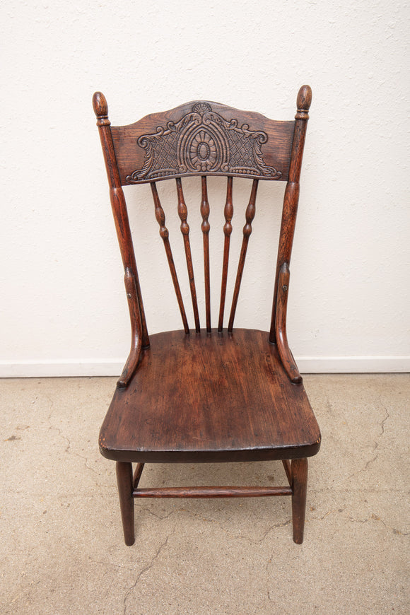 Vintage Oak Child's Chair