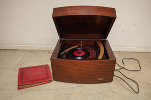 Columbia Record Player with Records