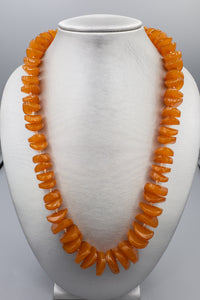 Graduated Honey Amber Hand Knotted Necklace