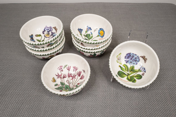"Portmeirion ""Botanic Garden"" Individual Salad/Fruit/Dessert Bowls Set of 8"