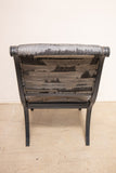 Blue/Gray Lacquered Arm Chair (Some wear)