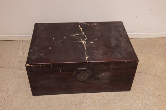 Chinese Lacquer Trunk As Is