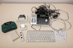 Lot of Electronic Misc and Apple Wireless Keyboard (As is)