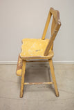 Rustic Yellow Child's Chair