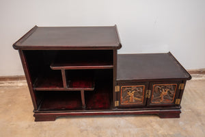 Chinese Carved Console Cabinet