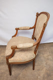 Carved French Style Arm Chair