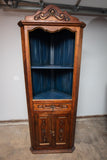 Carved Mexican Corner Cabinet