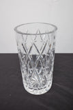 "Tiffany and Co. Cut Crystal Vase 9"" High"