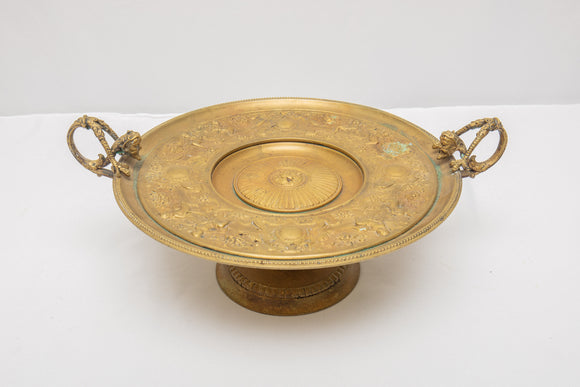 Heavy Brass Tazza with Figures