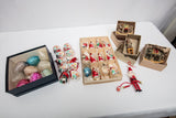 Vintage Glass Christmas Ornaments Lot of 30 Plus 4 Contemporary