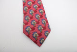 Hermes Silk Tie Red with Palm Trees